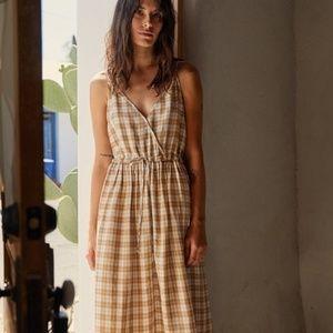 Christy Dawn Lincoln Dress in Coffee Plaid
